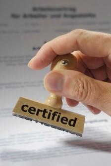 Beglaubigung - Certification - Certification conforme